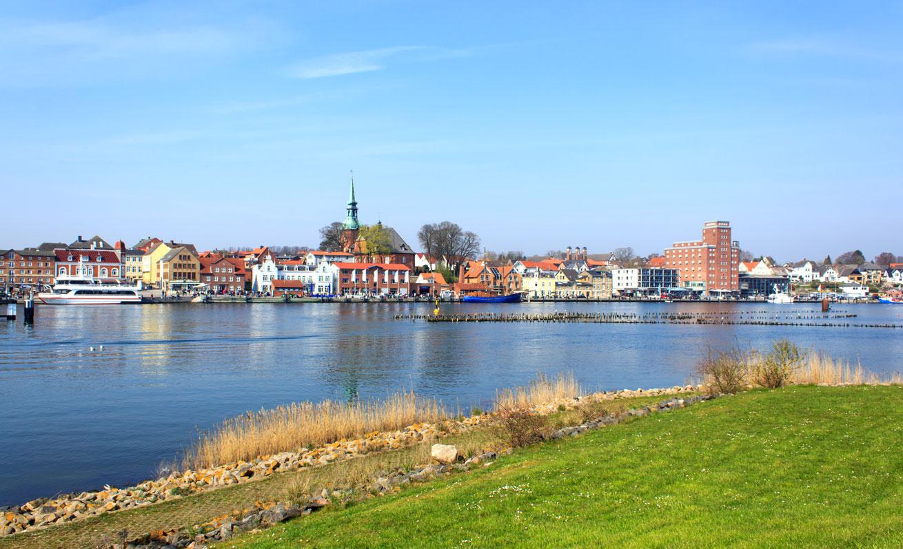 Kappeln an der Schlei mit Blick auf den Hafen