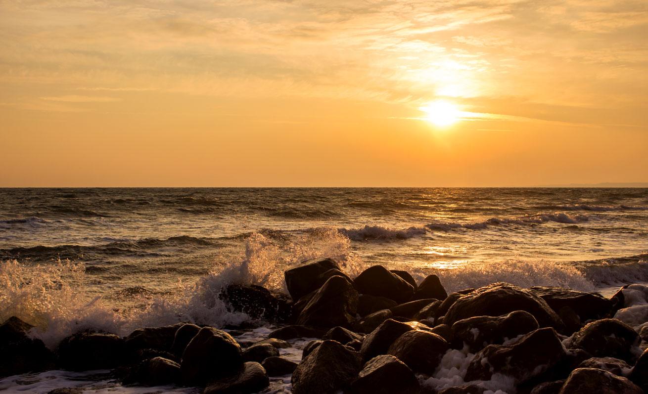 Sonnenaufgang in Damp