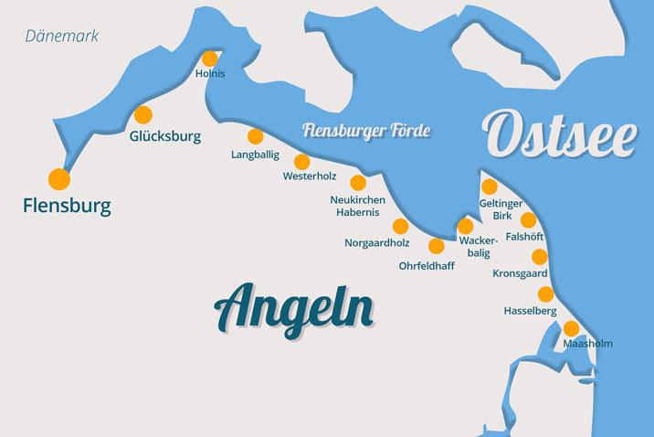 Ostseeorte in Angeln