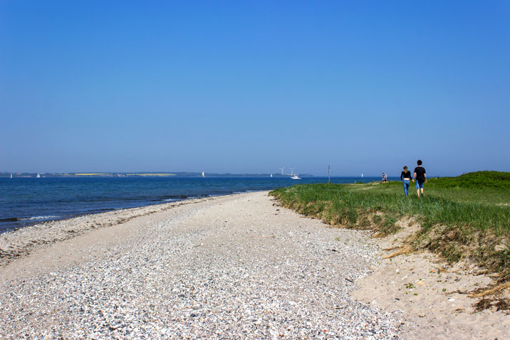 Strand in Langballigau im Frühling
