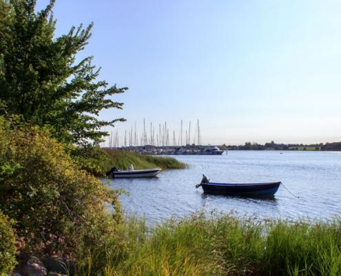 Yachthafen in Lindaunis an der Schlei