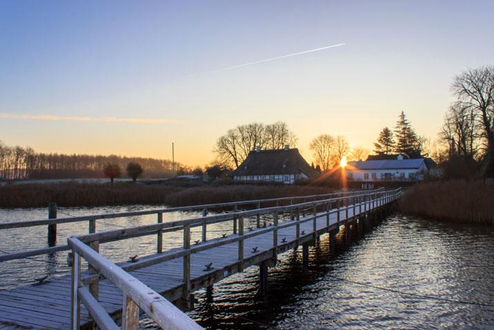 Sonnenaufgang in Sieseby an der Schlei