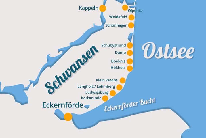 Karte Schwansen